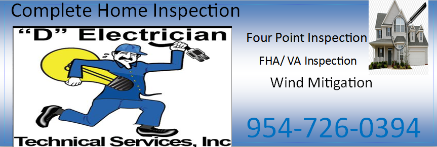 Electrical Four Point Home Inspection 954-726-0394